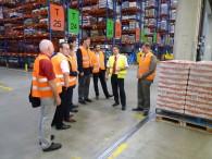AK-Wirtschaft der SPD besucht Globus Logistikzentrum