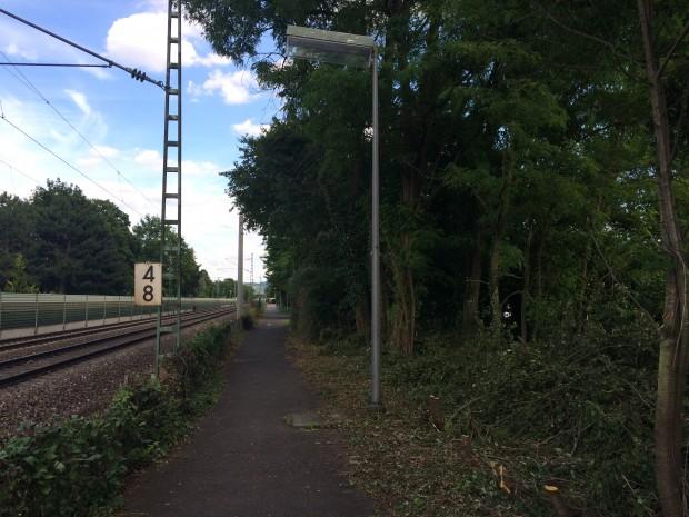Leuchten am Gaulsheimer Bahnhof erneuert